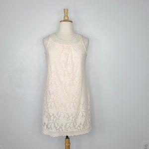 Beige by eci Lace Beaded Neckline Dress, NWT, 16